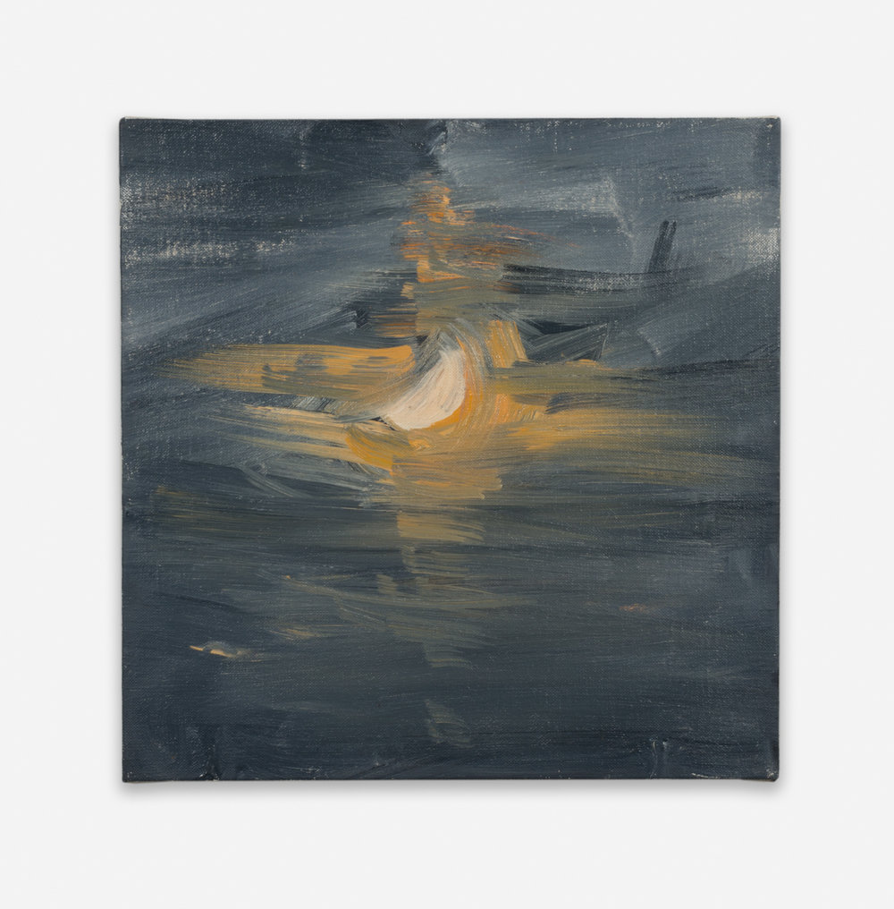 Ann Craven  Moon (Guilford, 8-26-12, 12AM), 2012  2012 Oil on linen 14h x 14w in AC133
