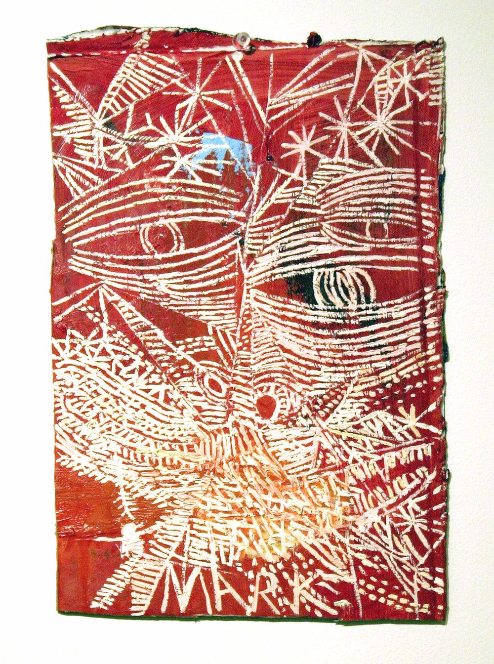 Mark Grotjahn  Untitled  2006 Oil on cardboard