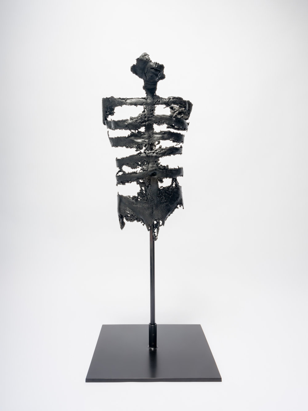 Naotaka Hiro Lonesome Tree a, 2018 Bronze, stainless steel rod, steel, black patina 52h x 20w x 12d in NaoH012
