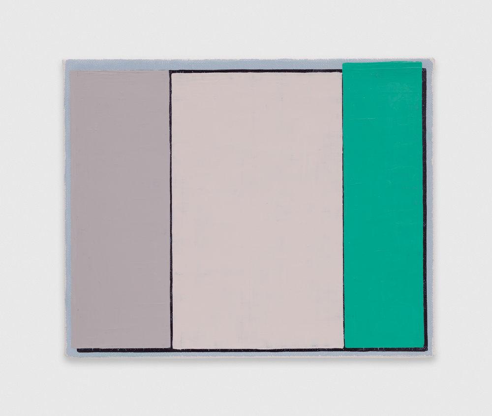 YuiYaegashi  indigo  2018 Oil on canvas 8 3/4h x 10 3/4w in YY127