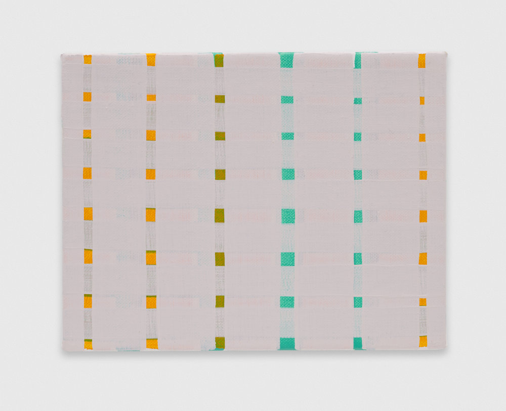 Yui Yaegashi  dull yellow  2018 Oil on canvas 5 1/2h x 7w in YY114