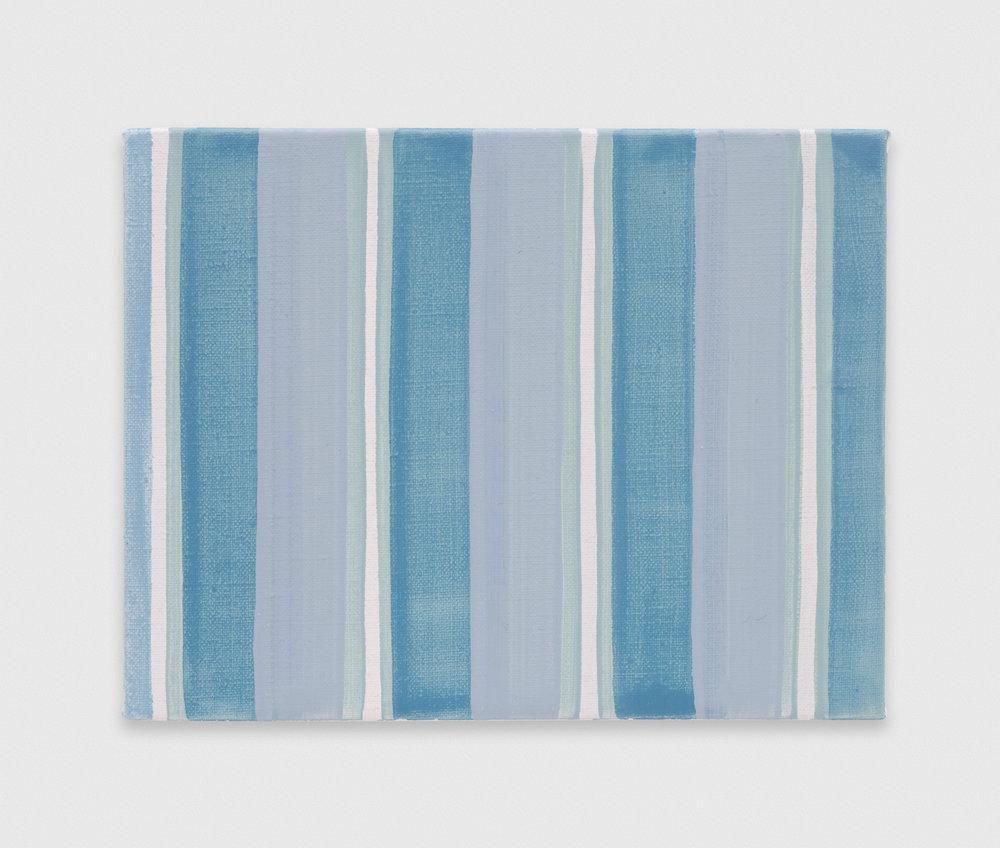 YuiYaegashi  blue, gray  2018 Oil on canvas 5 1/2h x 7 1/4w in YY113