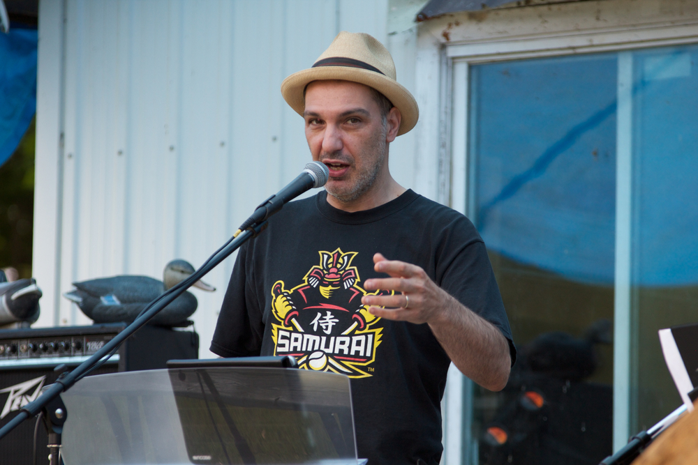 Dave Bidini hosts the annual Wolfe Island Literary Festival. Image from June 2010 by Dylan Neild.