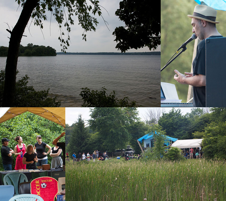 Images from 2014's Joe Burke Wolfe Island Literary Festival. (Photos by Lake Ontario Waterkeeper)