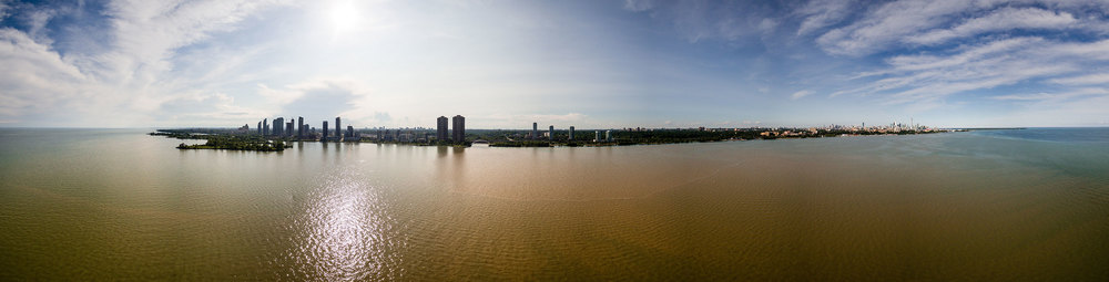 Toronto's Humber Bay two days after the June 27, 2015 storm. (Photo via Lake Ontario Waterkeeper)
