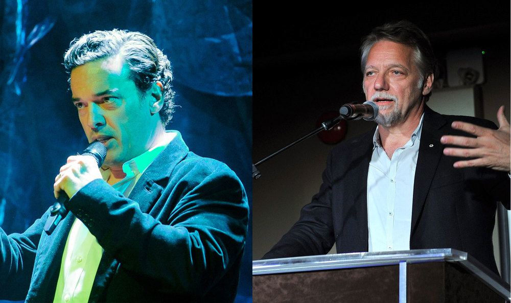 Joseph Boyden and Edward Burtynsky presenting at the Waterkeeper Gala. (Photos via Lake Ontario Waterkeeper)
