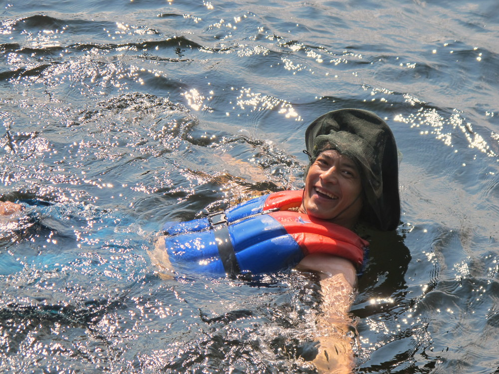 Swimming in Algonquin Provincial Park. (Photo by Christopher Porter)