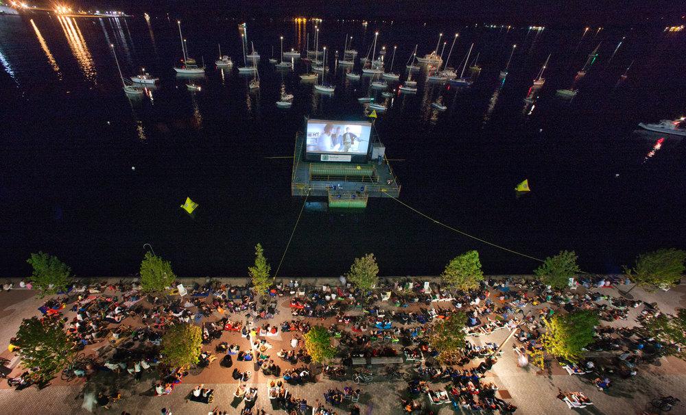 Bird's eye view from 2011's Sail-In Cinema.(Photo via Ports Toronto)