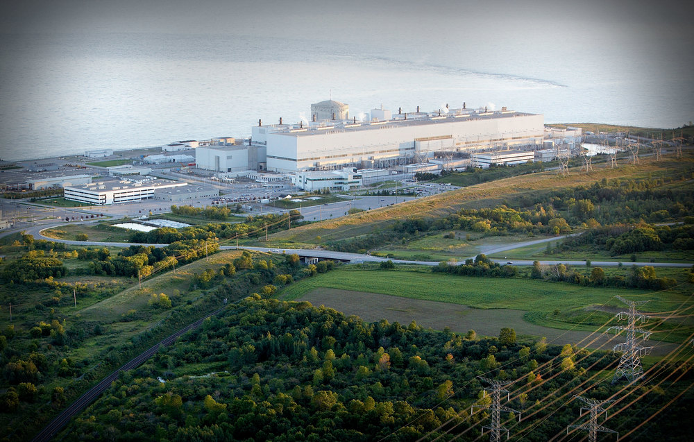 Darlington nuclear power station facing Lake Ontario. (Photo via Lake Ontario Waterkeeper)