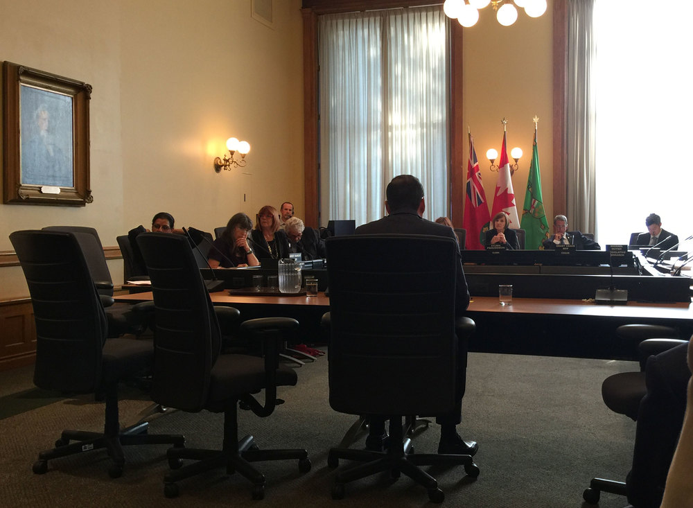 Lake Ontario Waterkeeper, Mark Mattson presenting to the Standing Committee in support of the  Great Lakes Protection Act, 2015.  (Photo via Lake Ontario Waterkeeper)