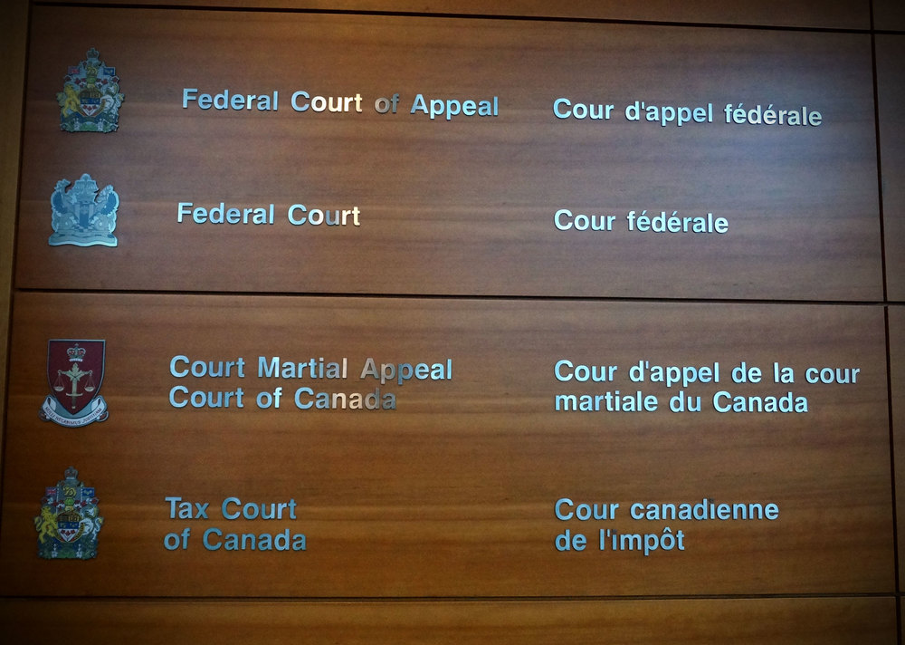 Arriving at the Federal Court of Appeal in Toronto. (Photo via Lake Ontario Waterkeeper)