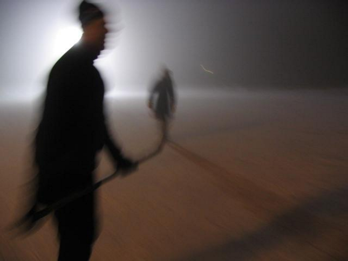 Late-night skate on Lake Ontario. (Photo by Paul Steenhuisen)