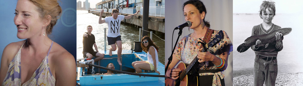 By knowing their connection to water, (l-r) Kathleen Edwards, Jeff Franklin, Sarah Harmer, and Mark Mattson create ripples of change. (Photos via Lake Ontario Waterkeeper and Jeff Franklin)
