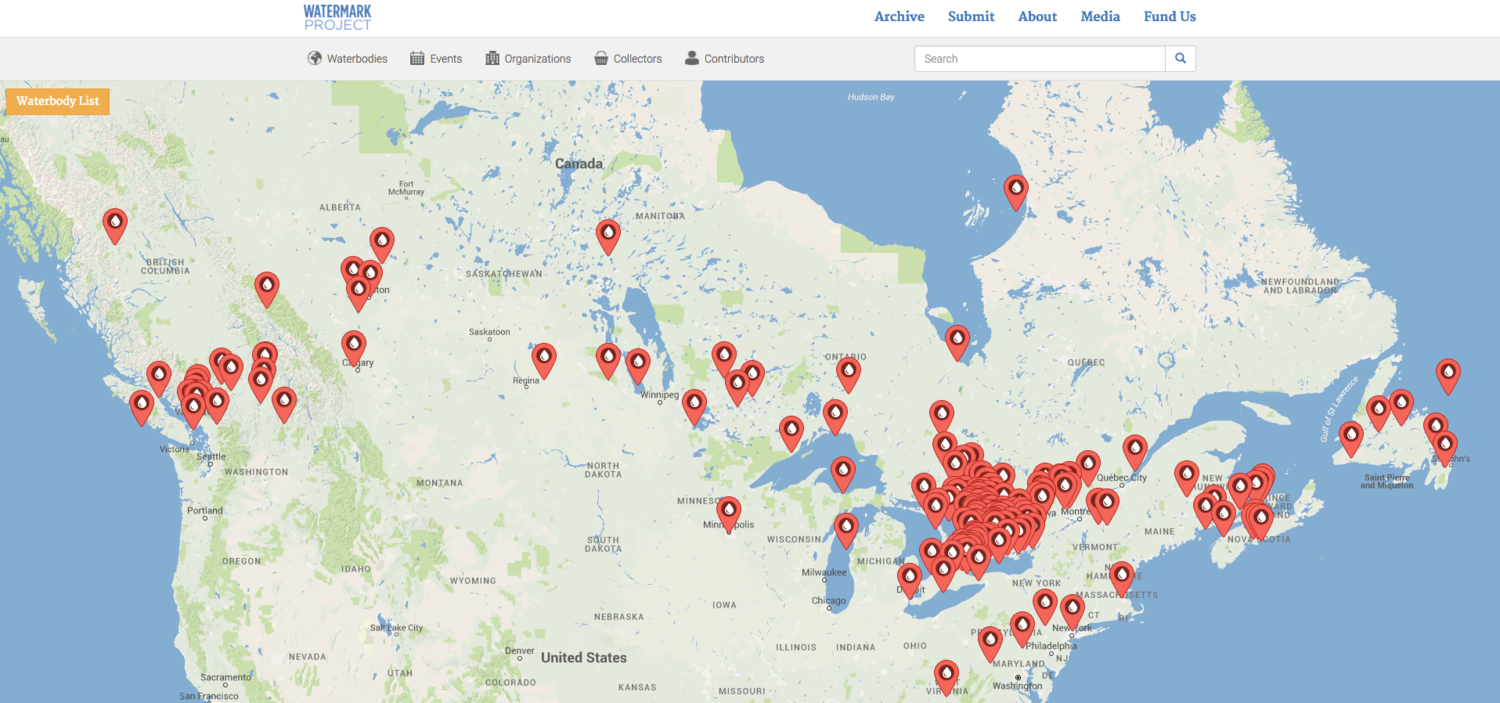 Water Bodies Of Canada Map.Behind The Watermark Project Why Every Canadian Should Share Their