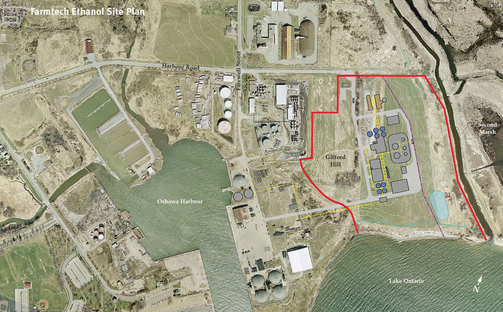 Proposed FarmTech Ethanol Site Plan. (Image via  FarmTech )