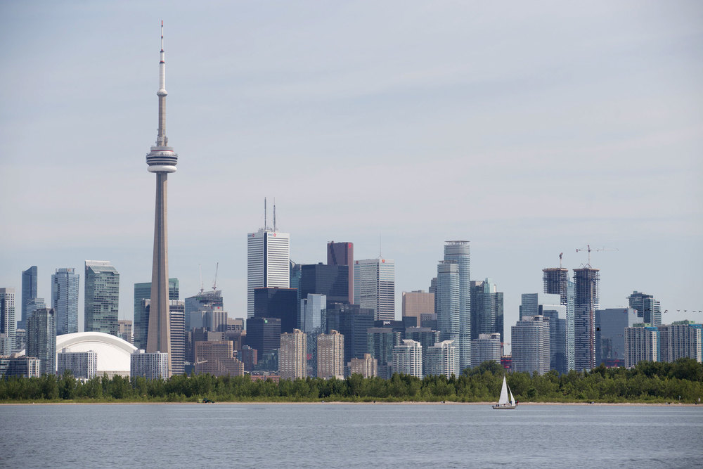 The view of Toronto from the water. (Photo by Dylan Neild)