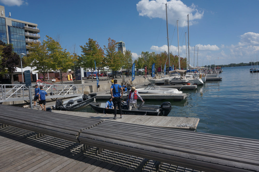 Boaters found along Toronto's inner harbour earlier today. (Photo by Li Black)