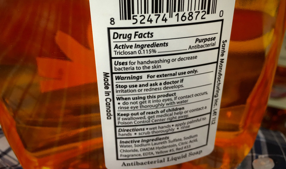 Considered toxic, triclosan is a synthetic chemical that is often found in consumer products and washing into waterways.  (Photo by Mike Mozart)