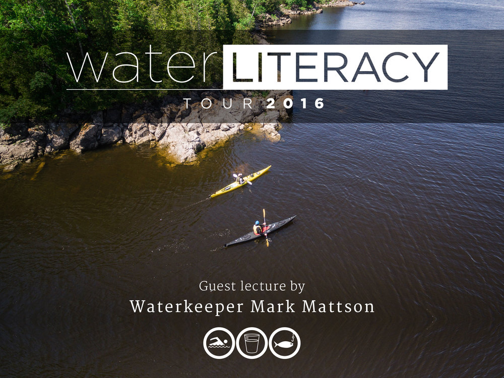 Waterkeeper Mark Mattson and Joseph Boyden paddling along the Kennebecasis River. (Photo by Dylan Neild)