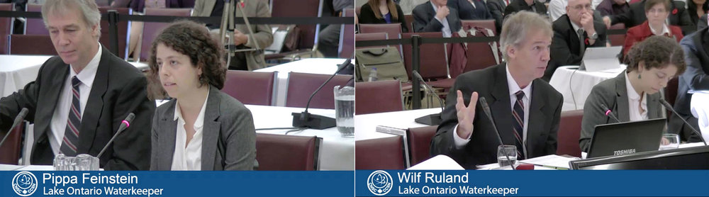 Representatives, Pippa Feinstein, JD, counsel and case manager for Waterkeeper and Wilf Ruland, P. Geo, an experienced hydrogeologist. (Screen grabs from webcast.)