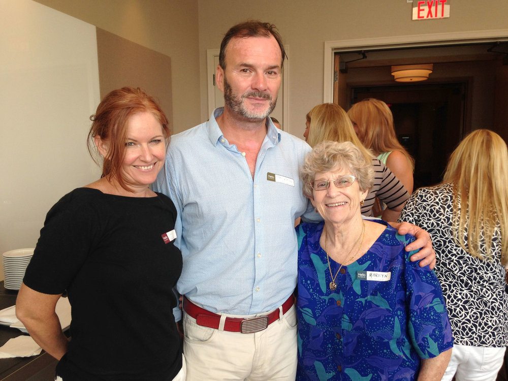 Tanis Rideout, Mark Mattson, and Marilyn Bell. (Photo by Gabi Parent-Doliner)