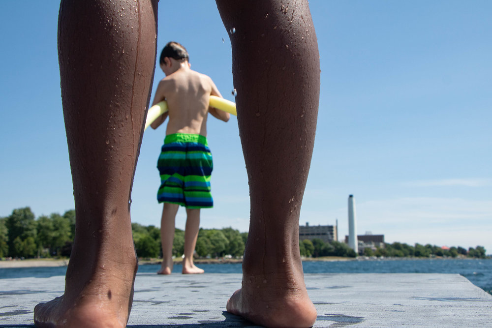 Wet feet, warm sun. Opening day at Breakwater Park. Photo by Swim Drink Fish.