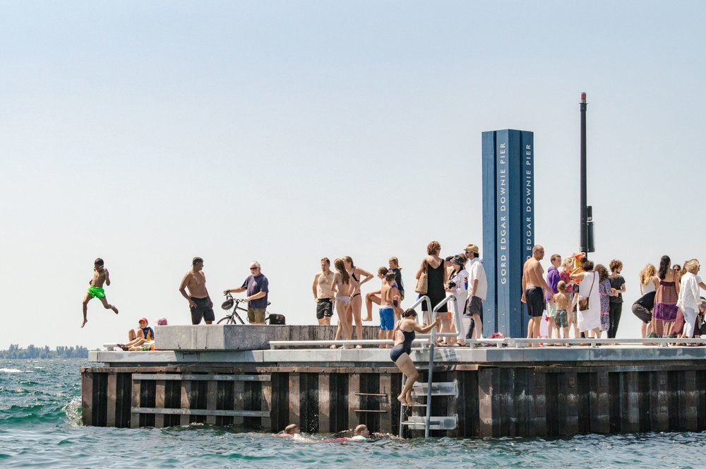 Residents enjoy the Gord Edgar Downie Pier at the grand re-opening of Breakwater Park in Kingston, Ontario. The pier restoration was made by possible by The W. Garfield Weston Foundation.