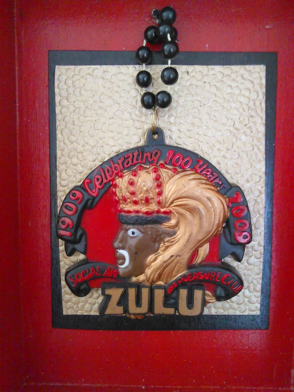 Zulu carnival Medallion shadowbox