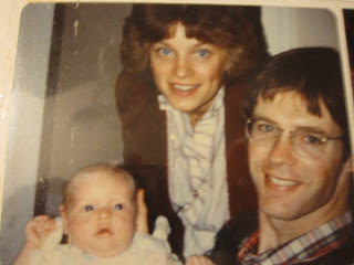 My amazing mama, and Dad, and me - 1982
