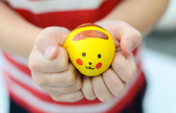 Squeeze balls can help kids release tension. They are also very simple to make at home.