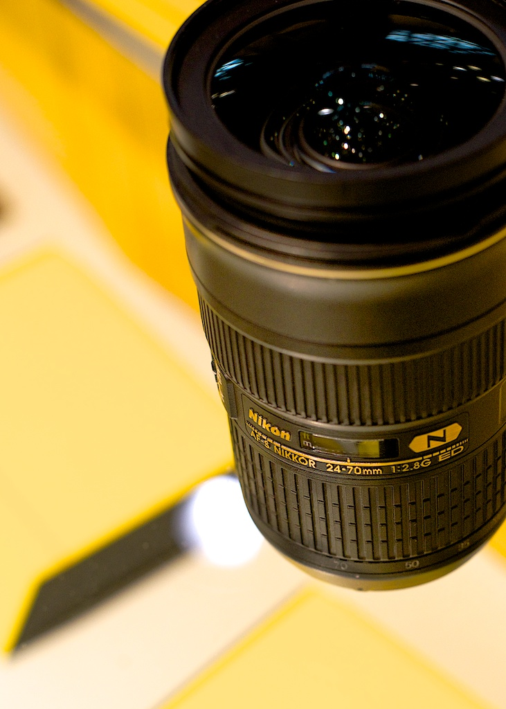 Nikon 24-70 mm, at the PhotoPlus Expo booth.