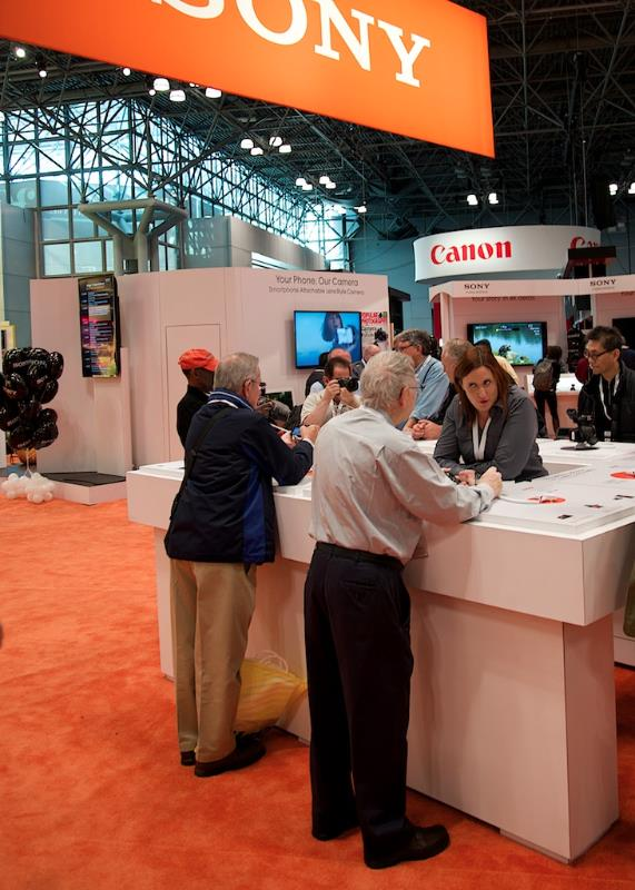Sony, Canon, and Nikon all brought their basic DSLRs to PhotoPlus Expo.