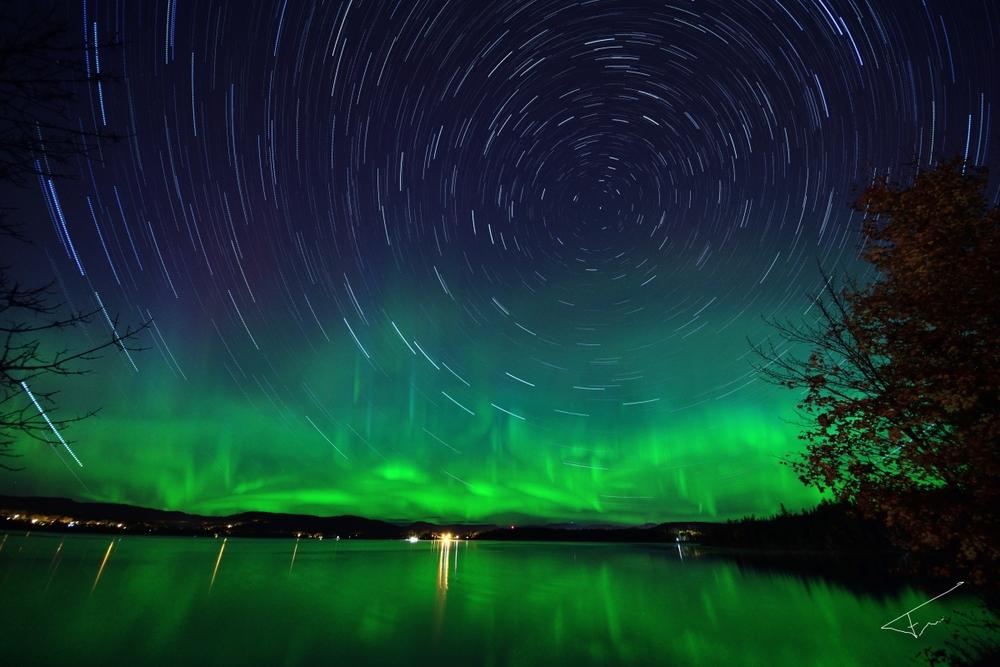 Aurora Star Trail 2012. Photo by Frank Audet.