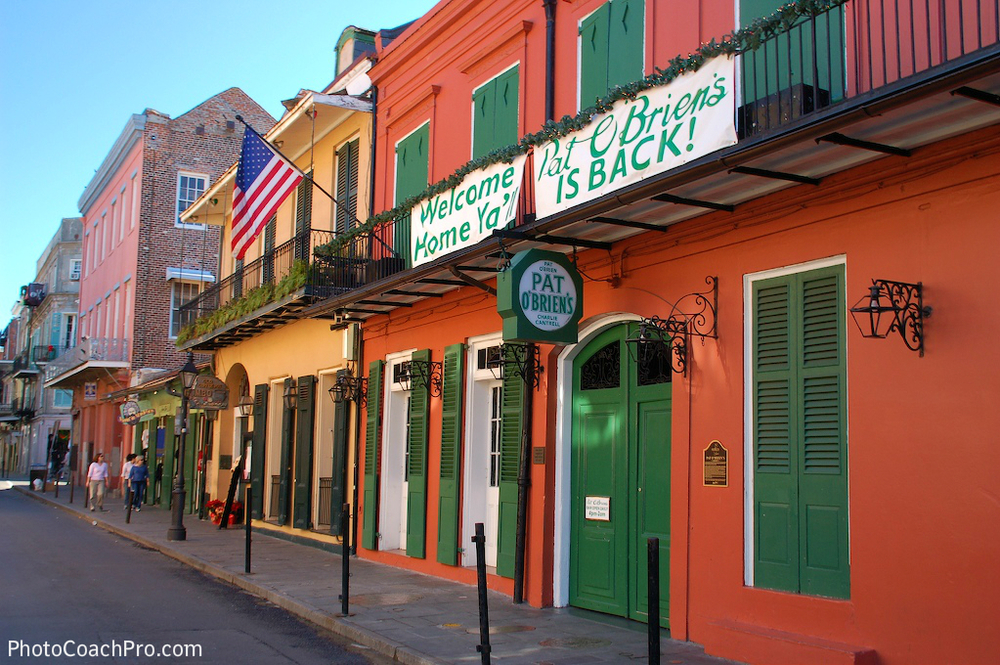 I snapped this photo of Pat O'Briens' shortly after Hurricane Katrina.