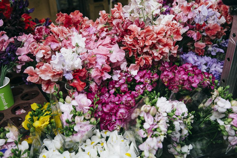 columbia road flower market, hackney