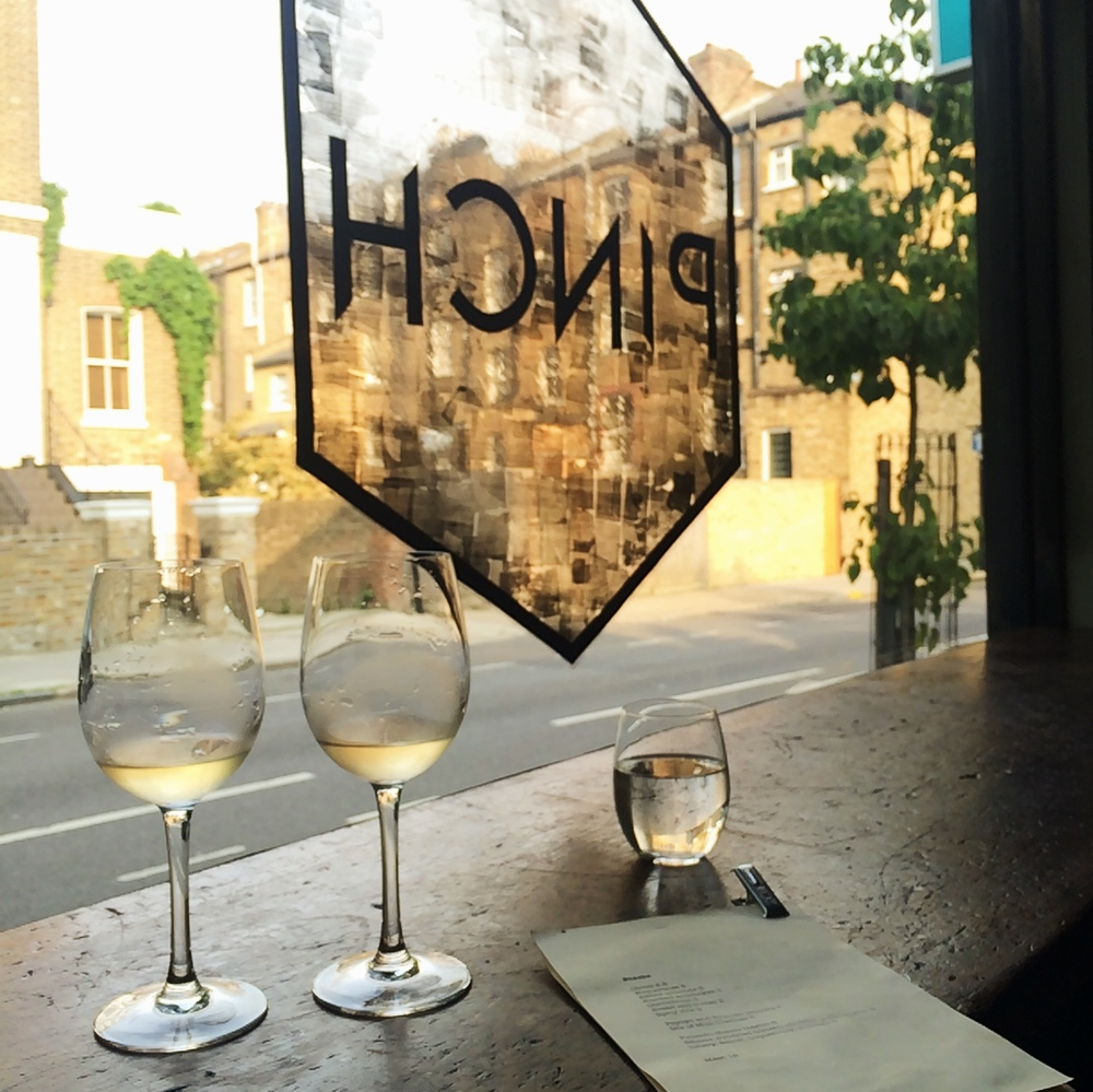 Fridays spent at Pinch, my favourite wine bar in Hackney