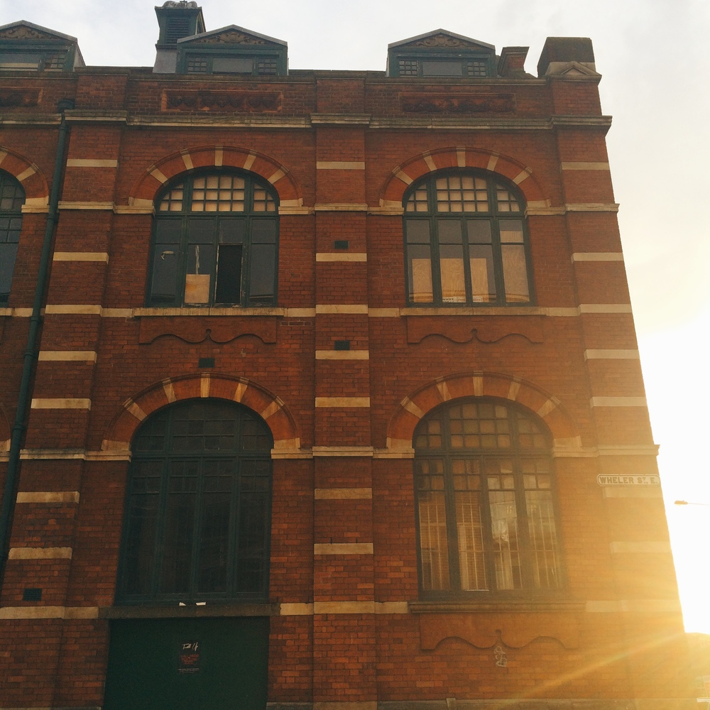 Sunset in Shoreditch, East London