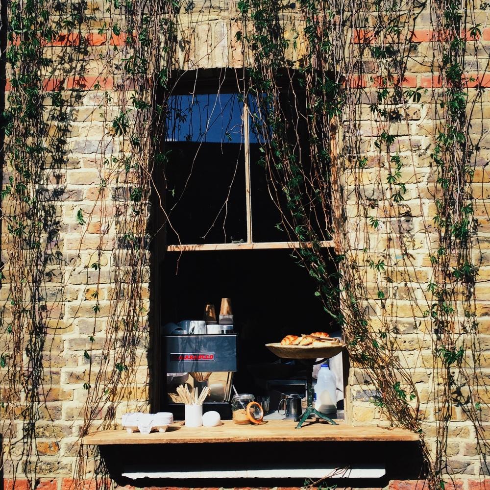 Columbia Road coffee window.