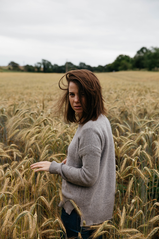 In the fields.