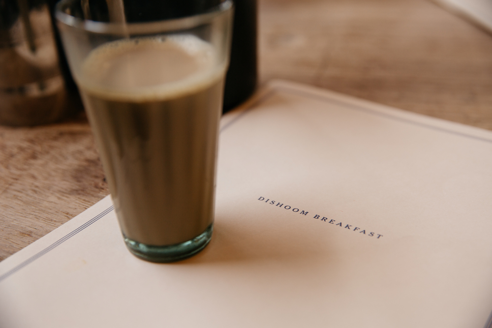 Bottomless chai at Dishoom, Shoreditch