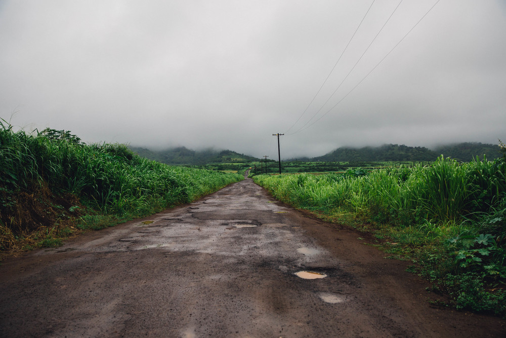 Rainy roads, Hawaii