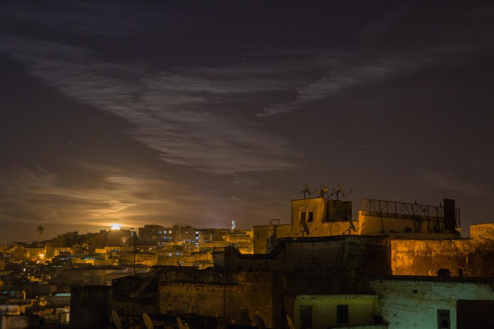 Sunset over Fez