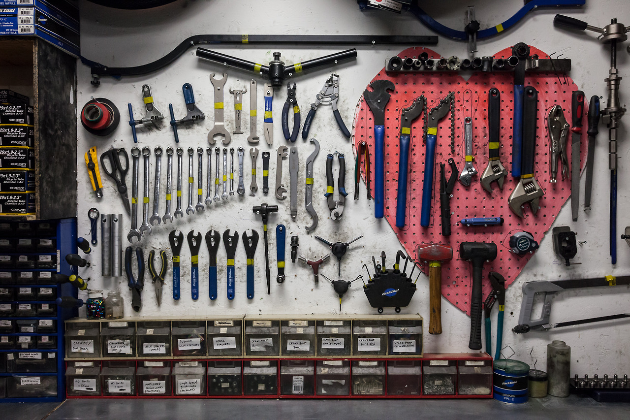 Everybody should have a workshop full of beautifully organised tools. Mine tend not to stay organised for very long though…