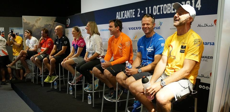 Skippers Press Conference Alicante Volvo Ocean Race 2014-2015
