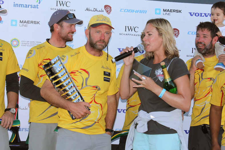 Winners of Leg 1 Abu Dhabi Ocean Racing. Skipper Ian Walker