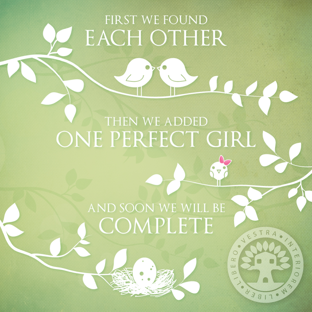 Baby Announcement Design by Corinne Jade
