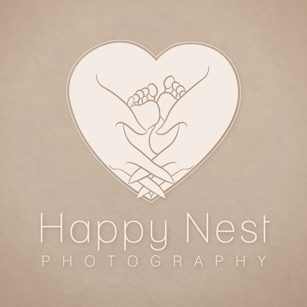Happy Nest Photography | Logo Design by Corinne Jade