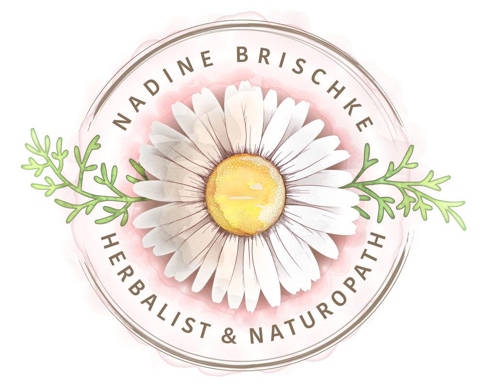 Nadine Brischke Herbalist & Naturopath | Logo Design by Corinne Jade