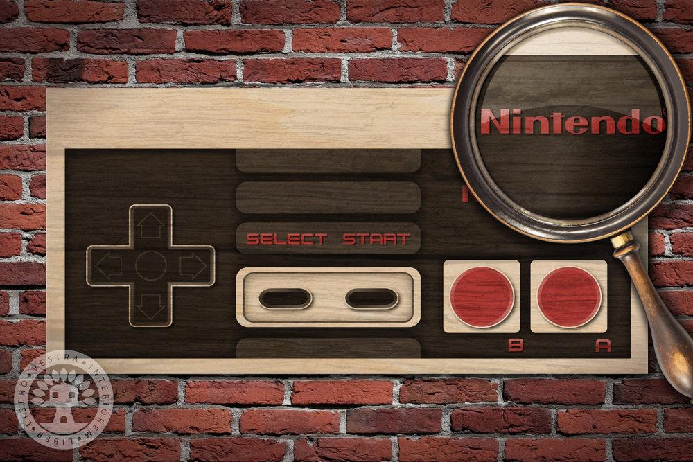 Nintendo NES Controller Woodblock Art by Corinne Jade