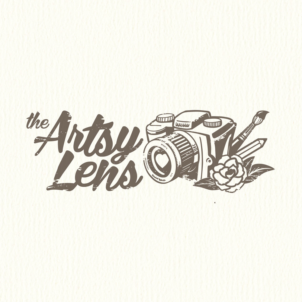 The Artsy Lens Logo Design by Corinne Jade
